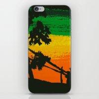 rasta iPhone & iPod Skins featuring Rasta Sunset by Stacy Payne