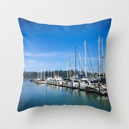 Sausalito Blues Throw Pillow