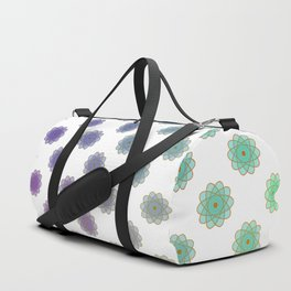 Ombre cyber atomic flower science print Duffle Bag