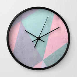 Floral Geometry Wall Clock
