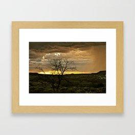 Burning Tree Framed Art Print
