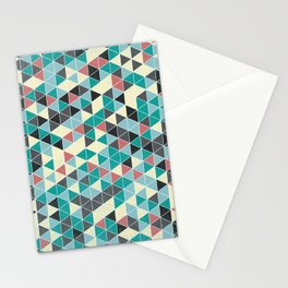 TRIANGLE GREEN Stationery Cards