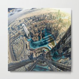 On top of the world, Burj Khalifa, Dubai, UAE Metal Print
