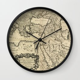 Map of the Ottoman Empire (1680) Wall Clock