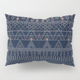 N53 - Blue Indigo Oriental Antique Traditional Moroccan Style Artwork Pillow Sham