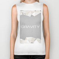 gravity Biker Tanks featuring Gravity by eARTh