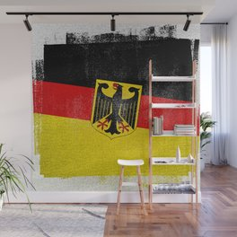 German Distressed Halftone Denim Flag Wall Mural