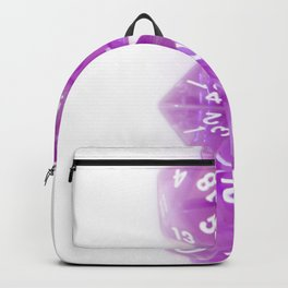 Purple Gaming Dice Backpack