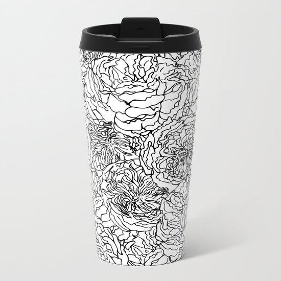 SPRING IN BLACK AND WHITE Metal Travel Mug