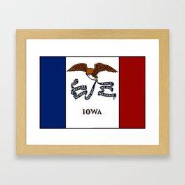 Fancy Flag:  Iowa Framed Art Print