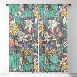 PARADISIACAL NIGHTLIFE Sheer Curtain