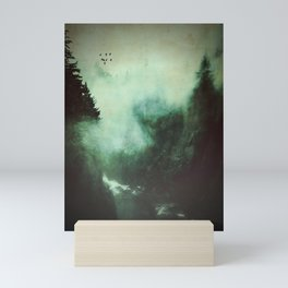 Morning dust on Mountains - Forest Wood Tree Mini Art Print