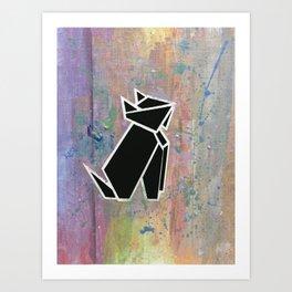 Kuro Neko (黒猫) Art Print