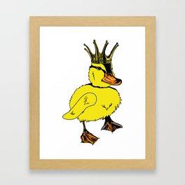 Duck King Framed Art Print