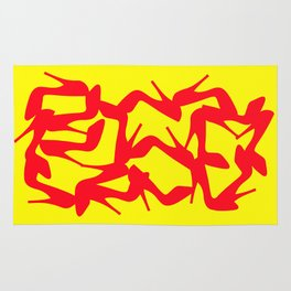 Shoe Fetish (Version 2) in Red and Yellow by Bruce Gray Rug