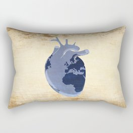 The earth is our heart - EARTH DAY '16 - all artist profits to be donated Rectangular Pillow