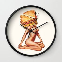 Sandwich Girl Wall Clock