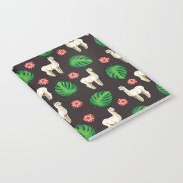 Monstera & llamas Notebook