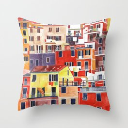 Cinque Terre vol 3 Throw Pillow