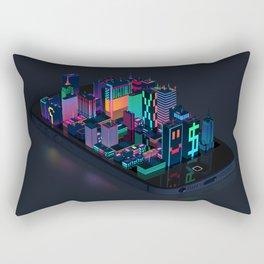 Digital City Rectangular Pillow