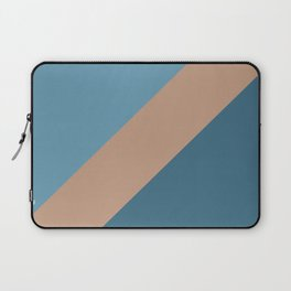 Brown Blue Minimal Diagonal Stripe Pattern 2021 Color of the Year Canyon Dusk & Accent Shades Laptop Sleeve