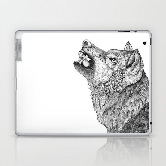 Wolf // Graphite Laptop & iPad Skin