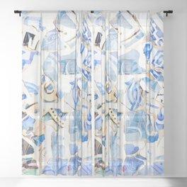 Mosaic of Barcelona XII Sheer Curtain