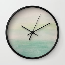 Ombre Mint Green Watercolor Hand-Painted Effect Wall Clock
