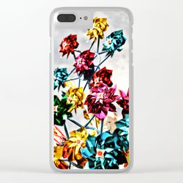 Caught By The Wind Clear iPhone Case