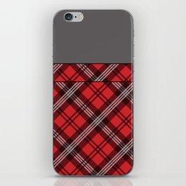 Scottish Plaid (Tartan) - Red iPhone Skin