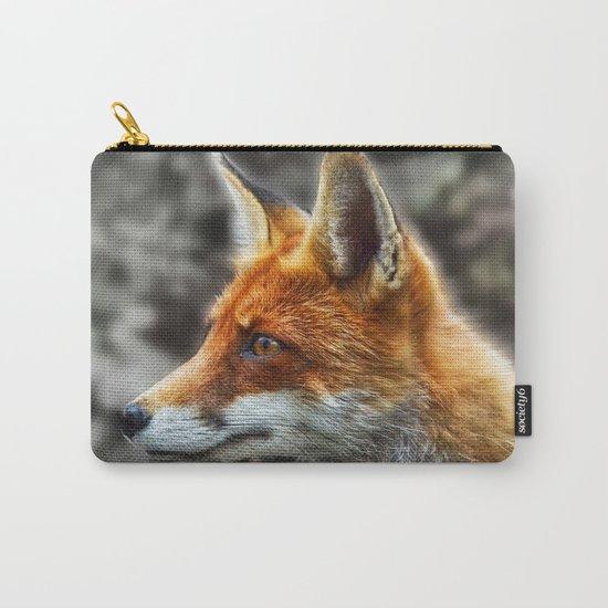 Friendly fox wildlife portrait Carry-All Pouch