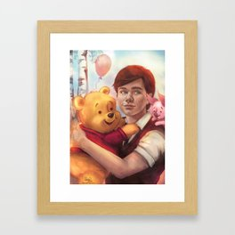 The boy and his friend  Framed Art Print