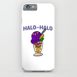 Halo-halo Filipino Popular Dessert With Shaved Ice Cool Design Gift iPhone Case