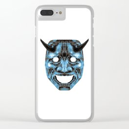 Hannya - low poly Clear iPhone Case