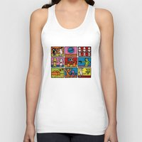 keith haring Tank Tops featuring Haring - étoiles W. by Krikoui