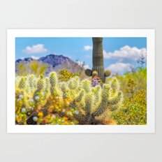 Nature's Thorny Protection Art Print