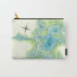 Go Home Lake - Nature Map Carry-All Pouch