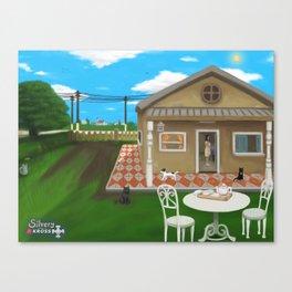 Ven a tomar el té Canvas Print