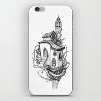 castle in the sky iPhone & iPod Skins featuring Castle in the sky by Mary Koliva