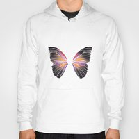 techno Hoodies featuring Techno Butterfly by miss ninja cookie