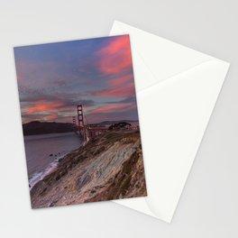 Golden Gate Bridge at Sunset Stationery Cards