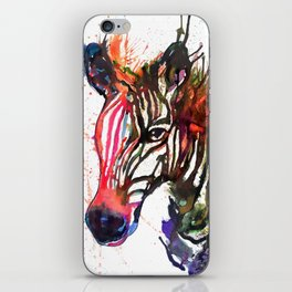 Zebra Splash iPhone Skin