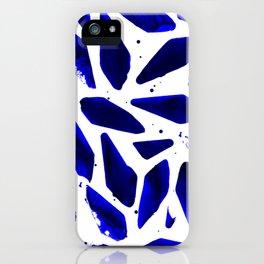 Cobalt Blue Ink Blots iPhone Case