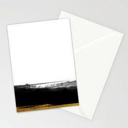 Black and Gold grunge stripes on clear white background - Stripe - Striped Stationery Cards
