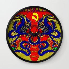 Martial Arts Dragons, Body Mind Spirit  Wall Clock