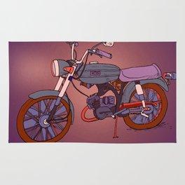 Vintage Motorcycle Gems Rug