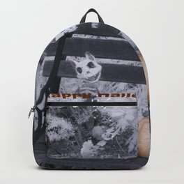 Cat Skeletons for Halloween Backpack