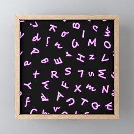 Neon letters seamless pattern Framed Mini Art Print