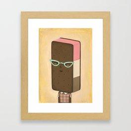 Ill Humored Ice Cream-Neapolitan Sandwich Framed Art Print