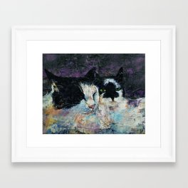 Two Cats Framed Art Print